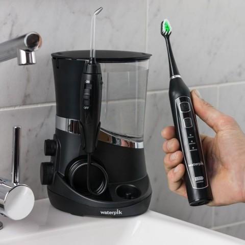 Escova de dentes tripla sônica