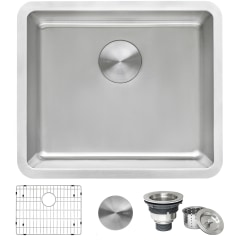 ruvati modena undermount 20 5 in x 17 75 in brushed stainless single bowl kitchen sink