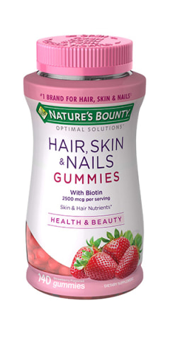 Cvs Hair Skin And Nails : nails, NATURE'S, BOUNTY, OPTIMAL, SOLUTIONS, HAIR,, NAILS, BIOTIN, COLLAGEN,, Pharmacy