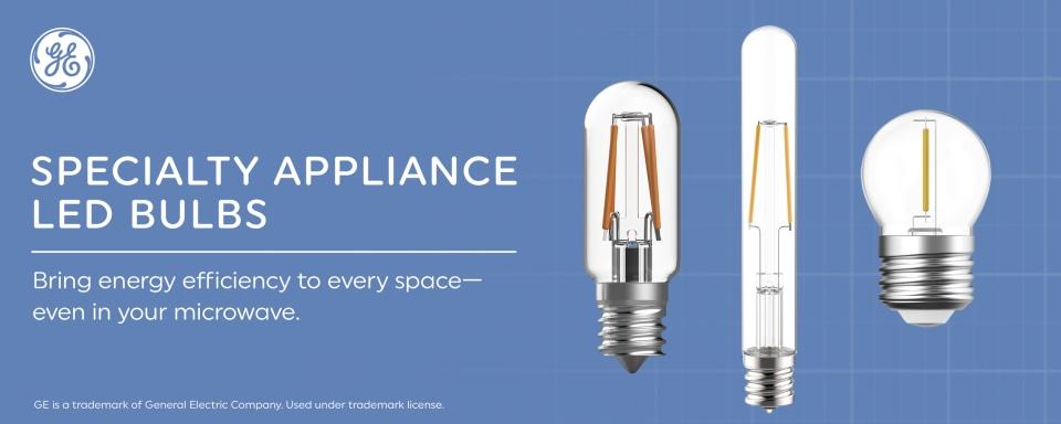 ge specialty led 25 watt eq 3 in t8 soft white appliance light bulb 4 pack