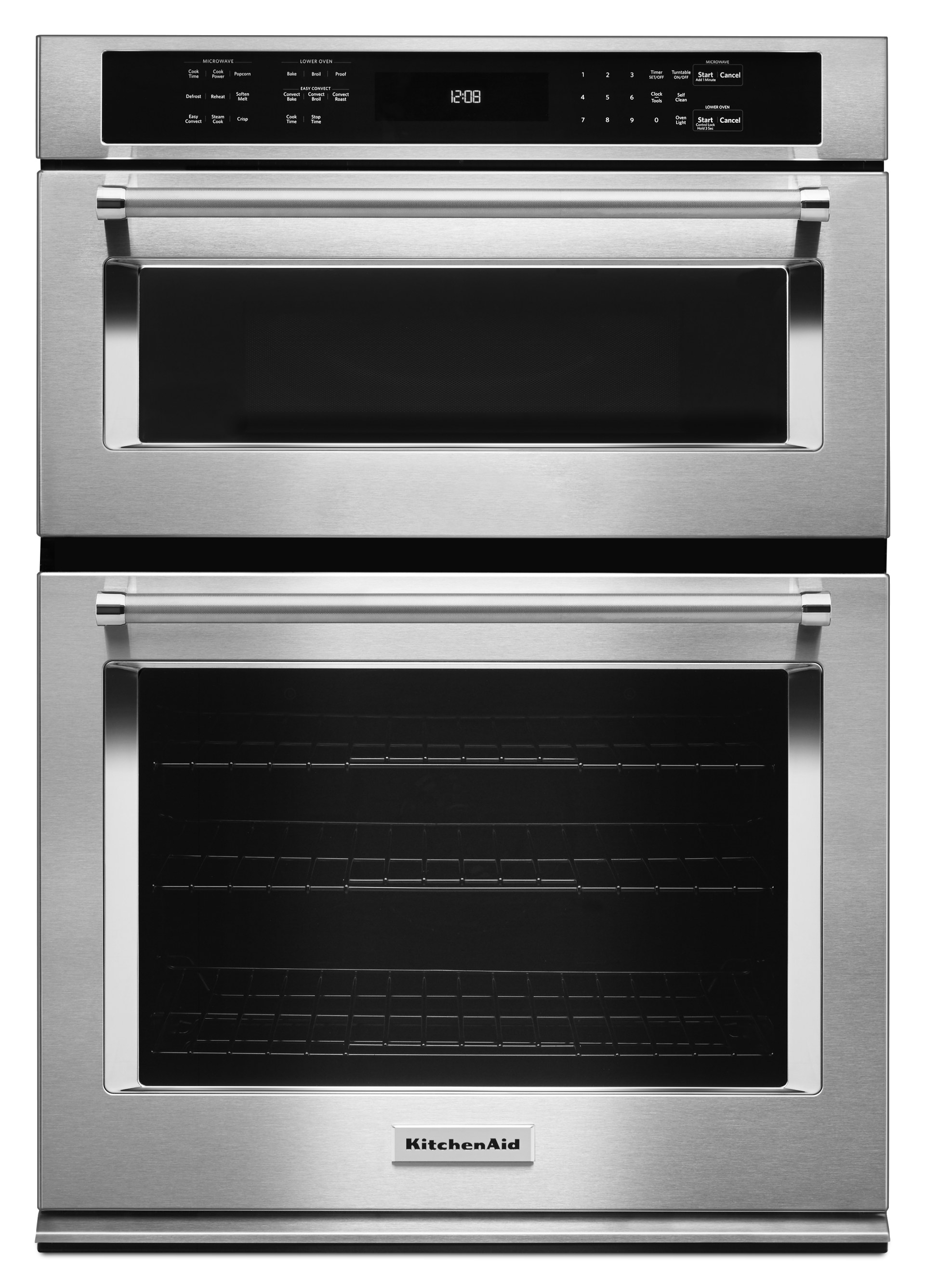 kitchenaid 30 electric wall oven with even heat true convection and built in microwave with crispwave microwave technology