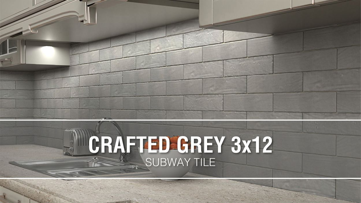 boutique ceramic boutique crafted grey 3x12 3 in x 12 in glazed ceramic subway wall tile