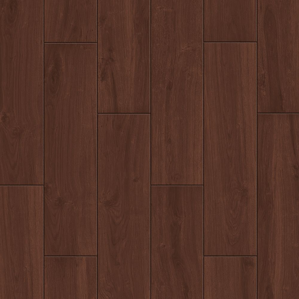 style selections serso black walnut 6 in x 24 in glazed porcelain wood look floor and wall tile