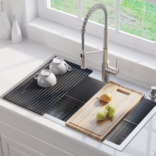 kraus 33 all in one kitchen sink combo