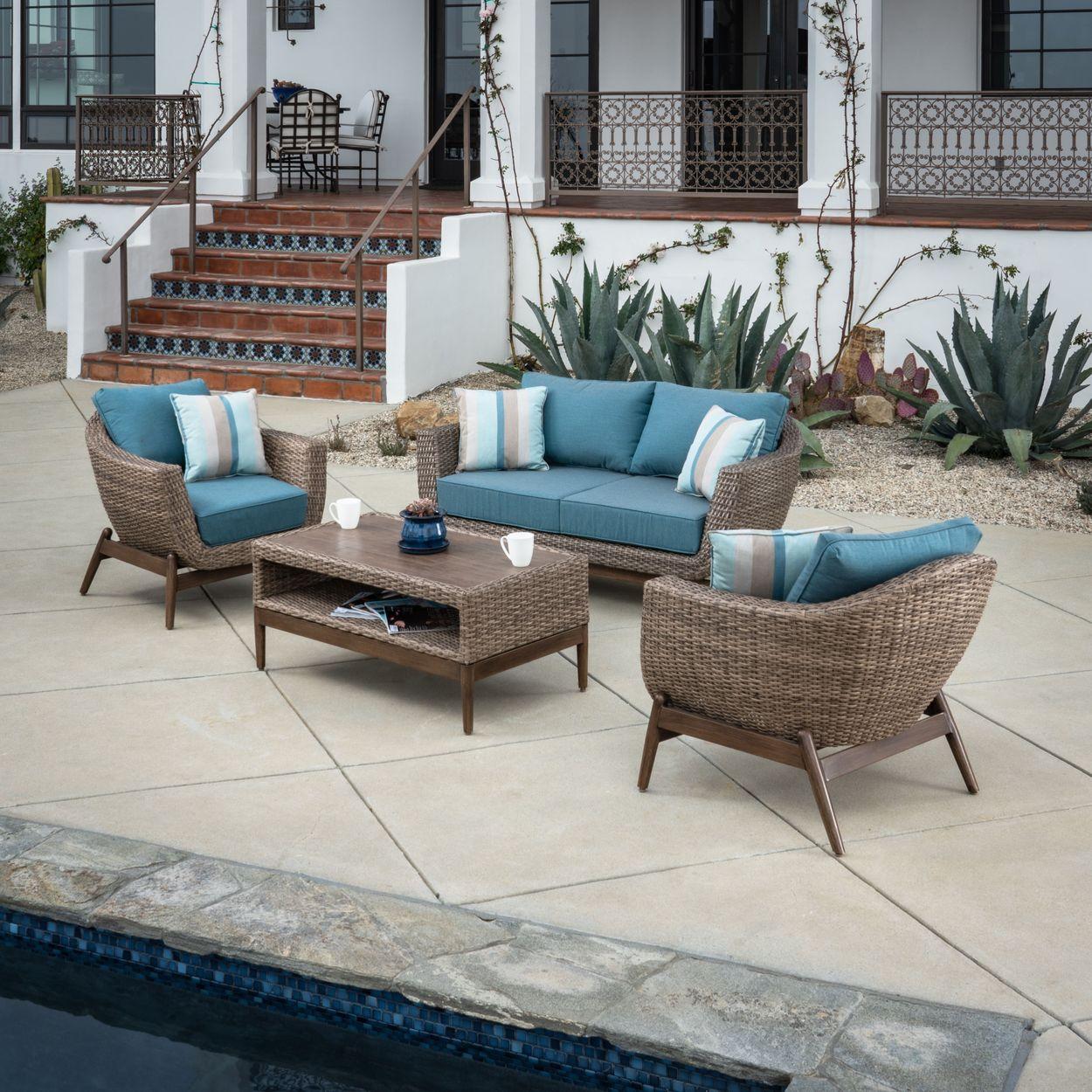 southfield 4 piece patio seating set
