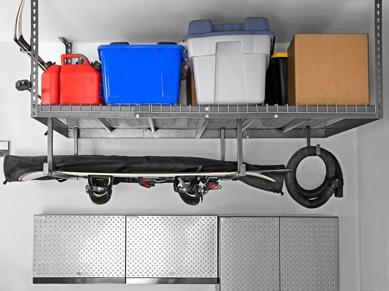 newage products overhead storage rack
