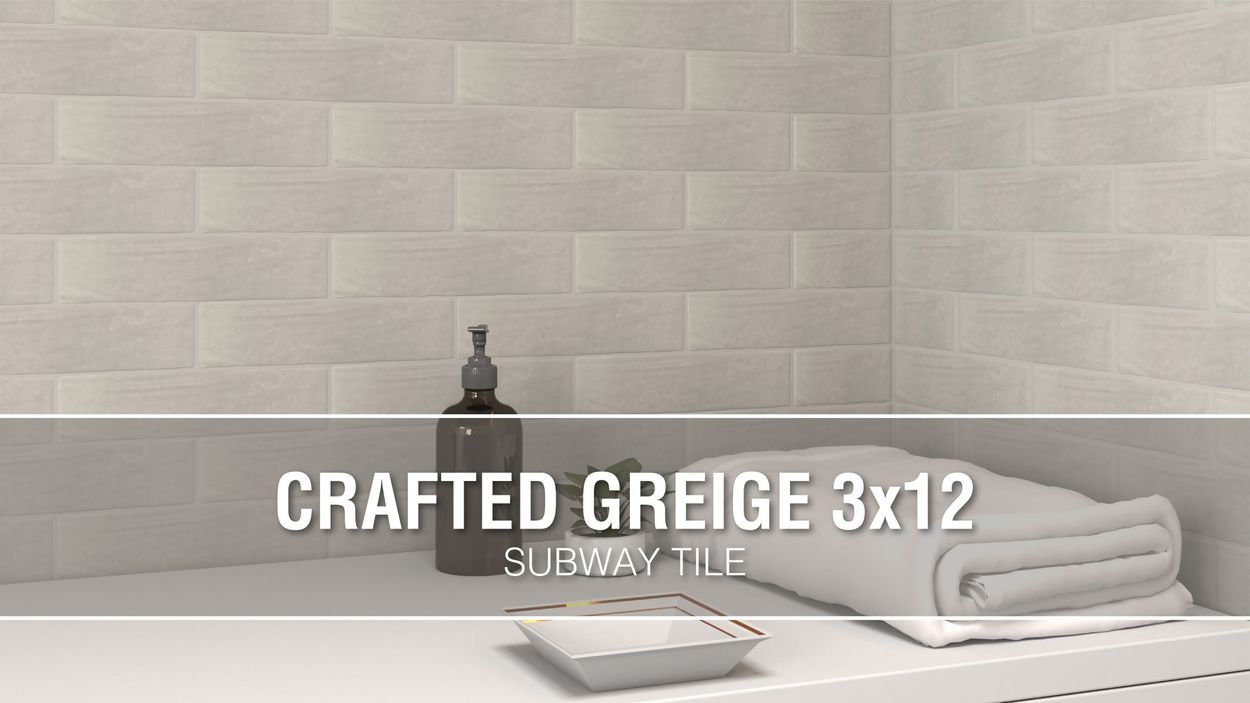 boutique ceramic boutique crafted greige 3x12 3 in x 12 in glazed ceramic subway wall tile