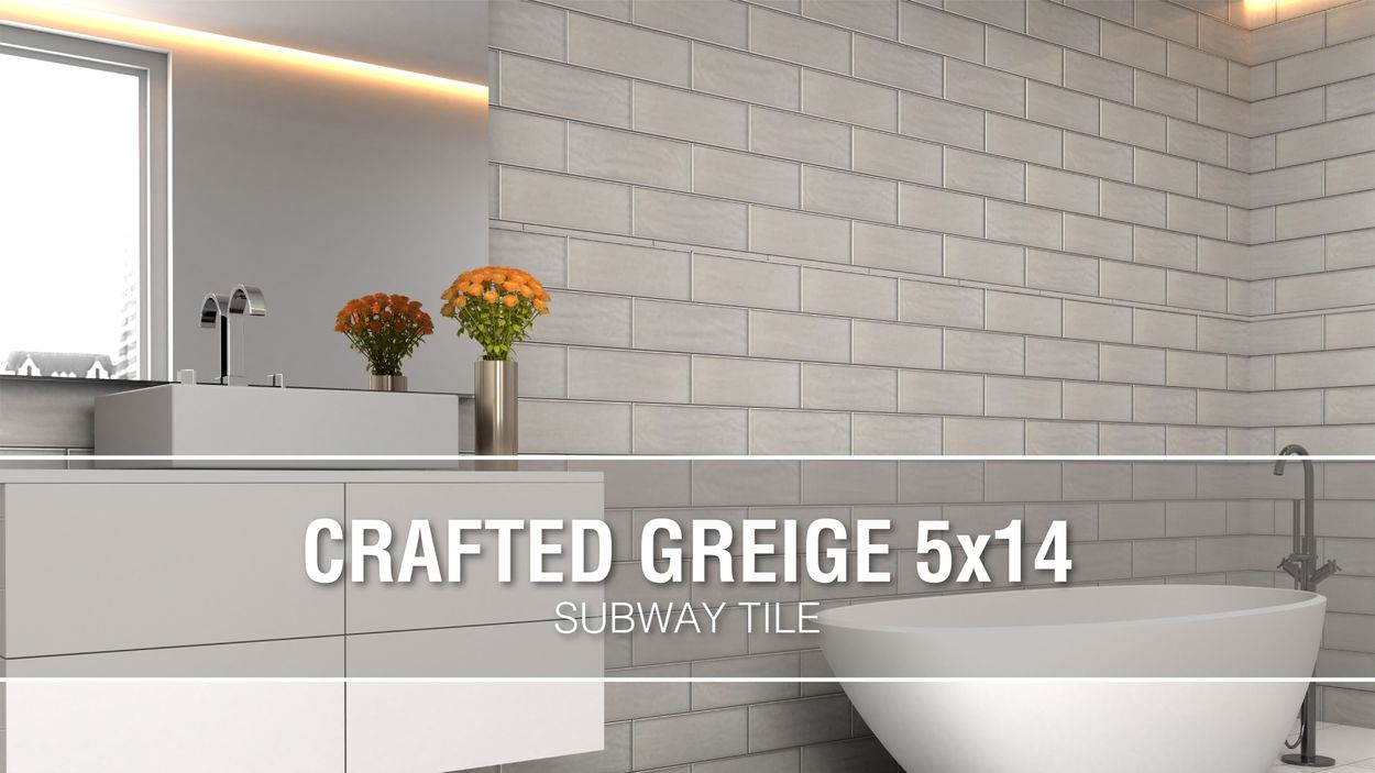 boutique ceramic boutique crafted greige 5x14 5 in x 14 in glazed ceramic subway wall tile