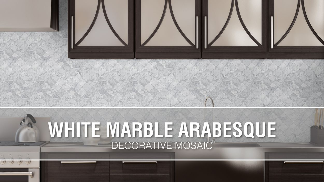 elida ceramica white marble arabesque 12 in x 12 in glossy natural stone marble lantern wall tile