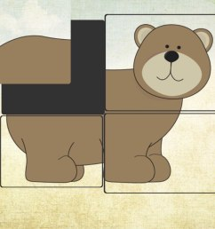 brown bear puzzles animal puzzles from brown bear story puzzle [ 2048 x 1536 Pixel ]