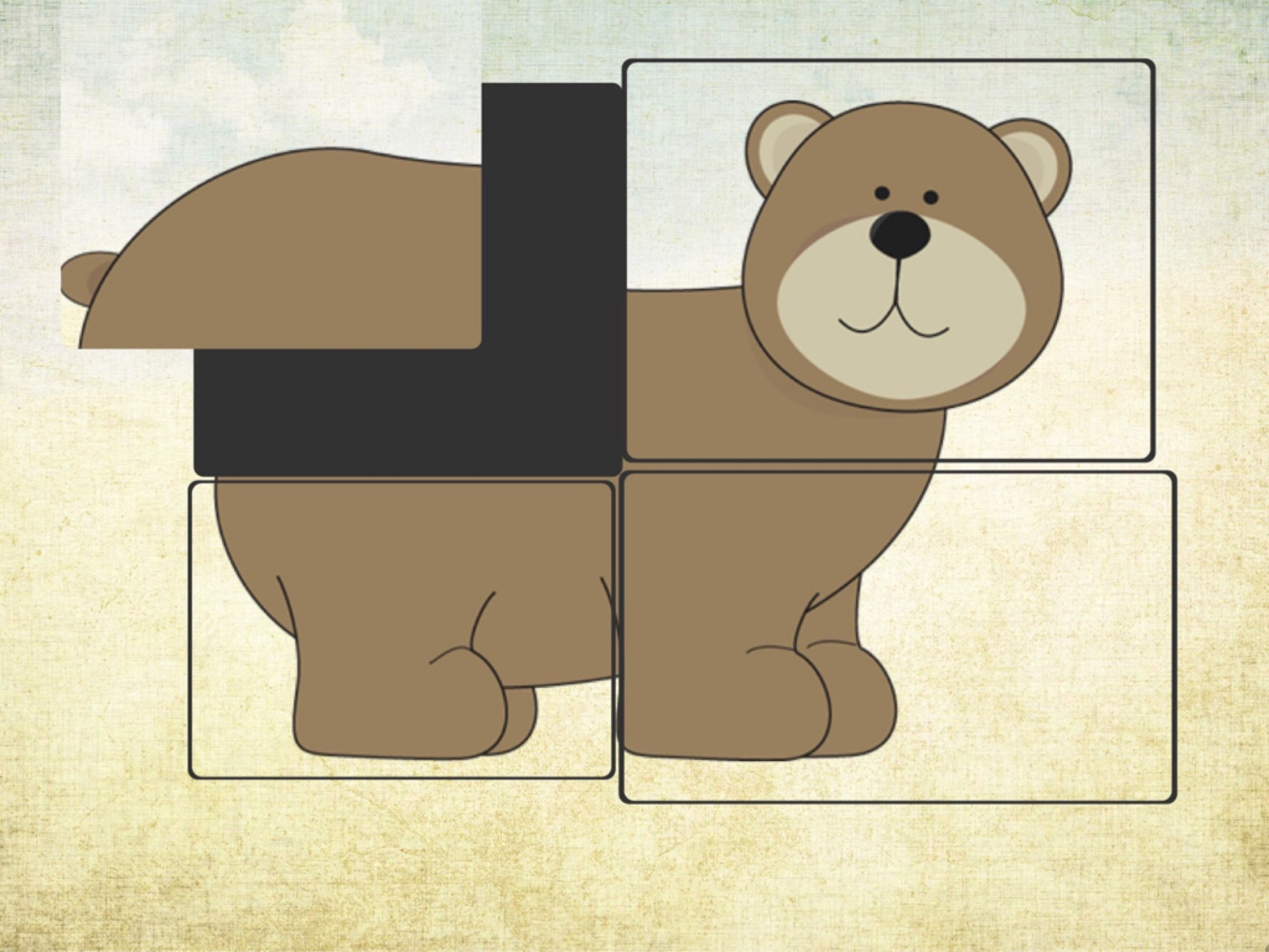 hight resolution of brown bear puzzles animal puzzles from brown bear story puzzle