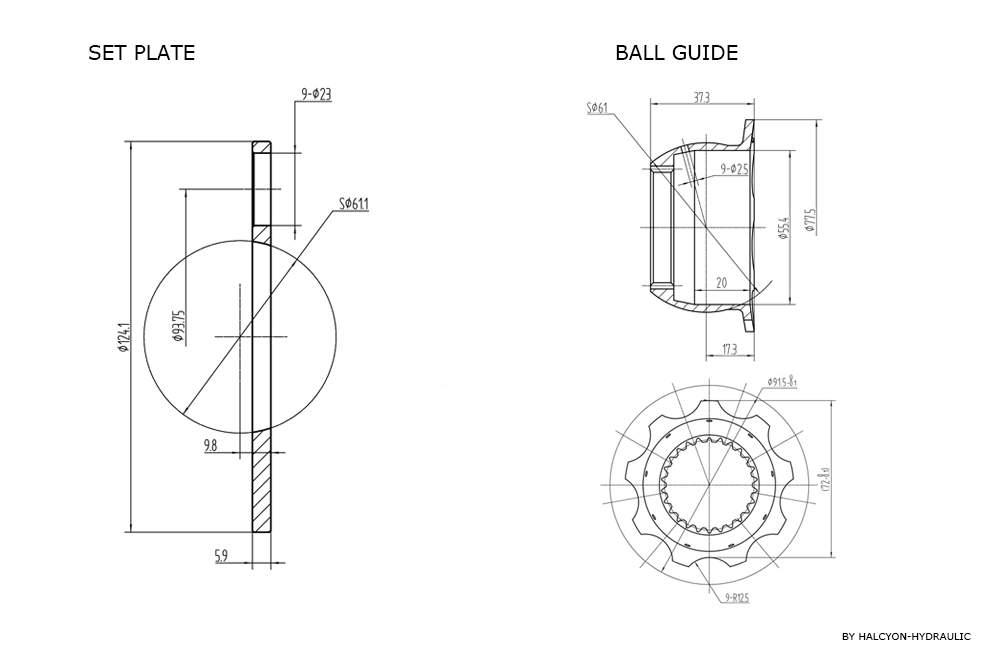 Hydraulic Piston Pump Parts Rotating Group∣Toolots