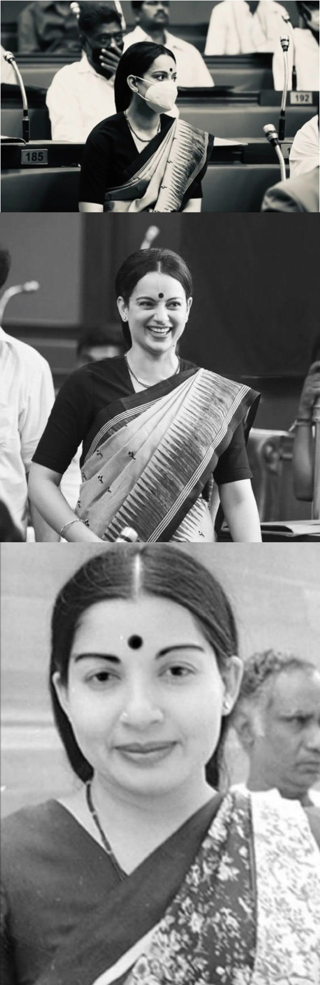 #Talaivi .. Jayalalithaa in the assembly with a mask