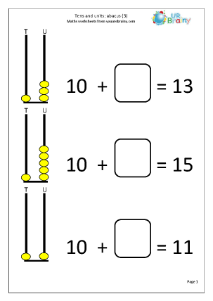 Abacus: tens and ones (3)