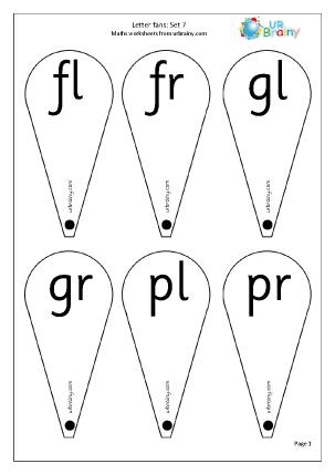 Letter Fans (Blends 2)
