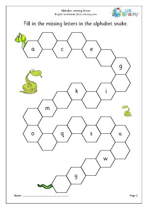 Alphabet: missing letters