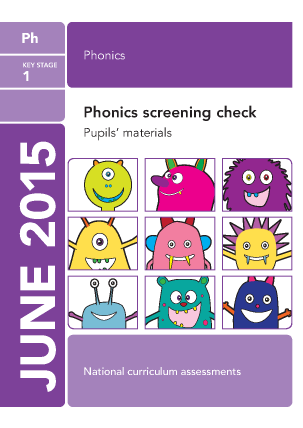 2015 Phonics screening check pupils materials