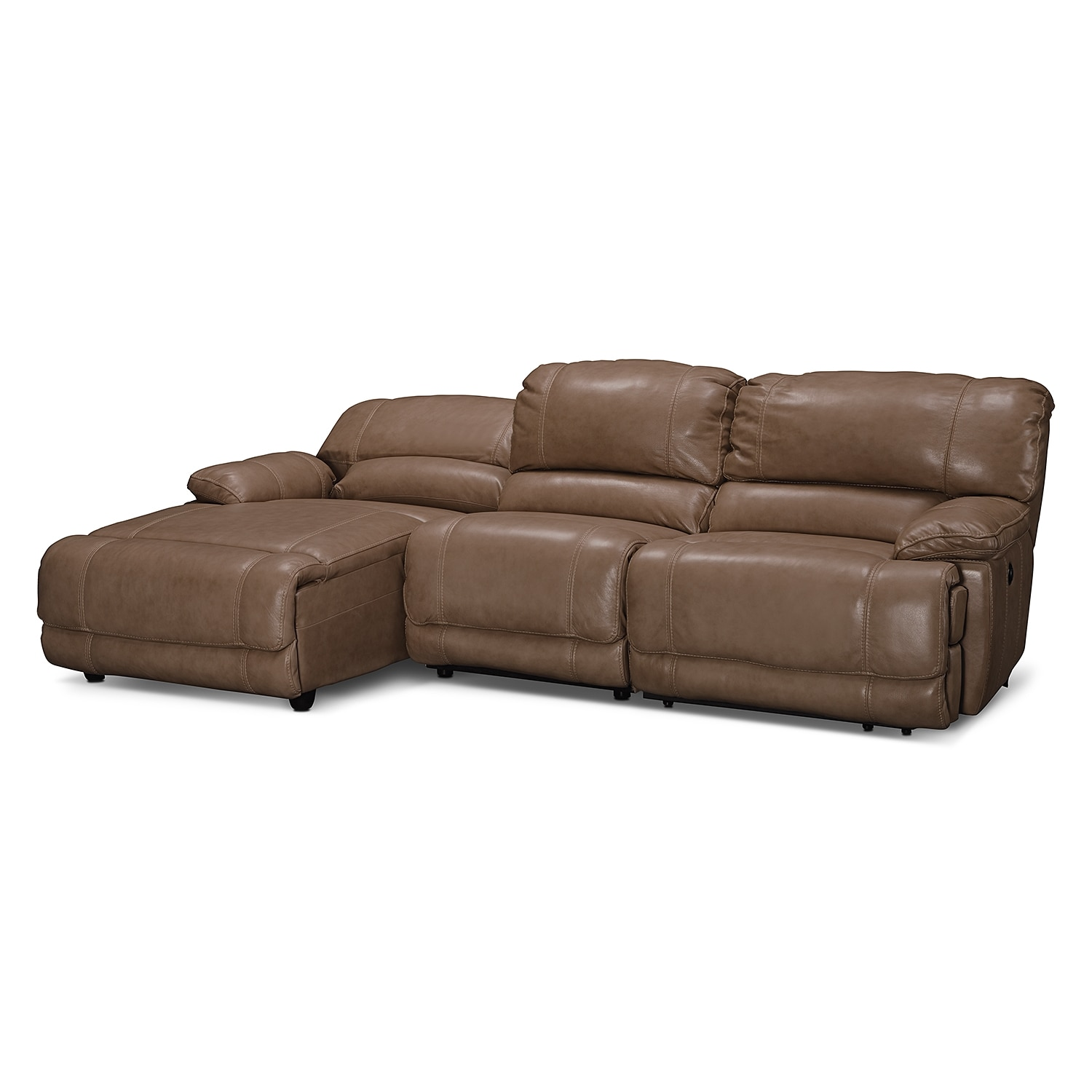 3 pc sectional sofa with recliners shallow depth st malo piece power reclining left