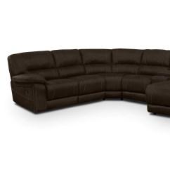 Where To Donate Sectional Sofa Leggett Platt Air Dream Queen Sleeper Mattress Wyoming 5 Piece Reclining With Right Facing