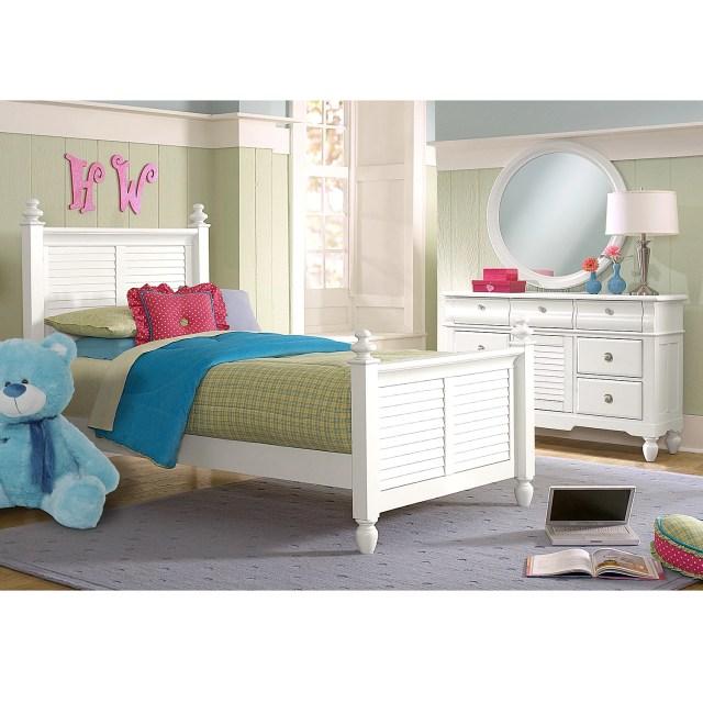 Seaside 5 Piece Full Bedroom Set White