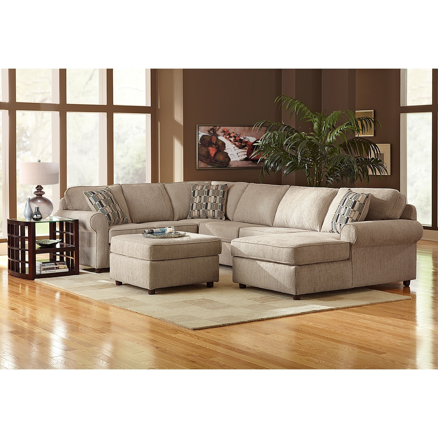 Monarch II Upholstery 3Piece Sectional  Value City Furniture