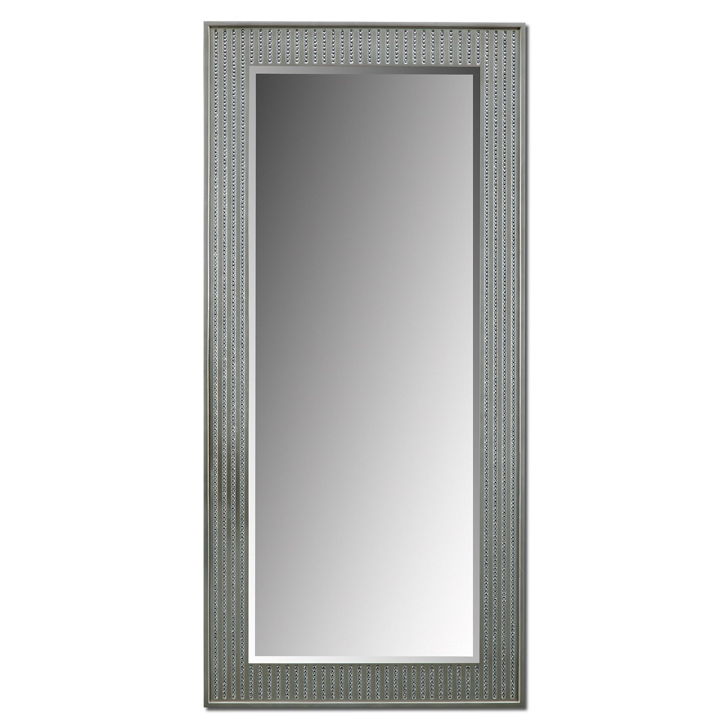 Bling Glam Floor Mirror  Silver  Value City Furniture