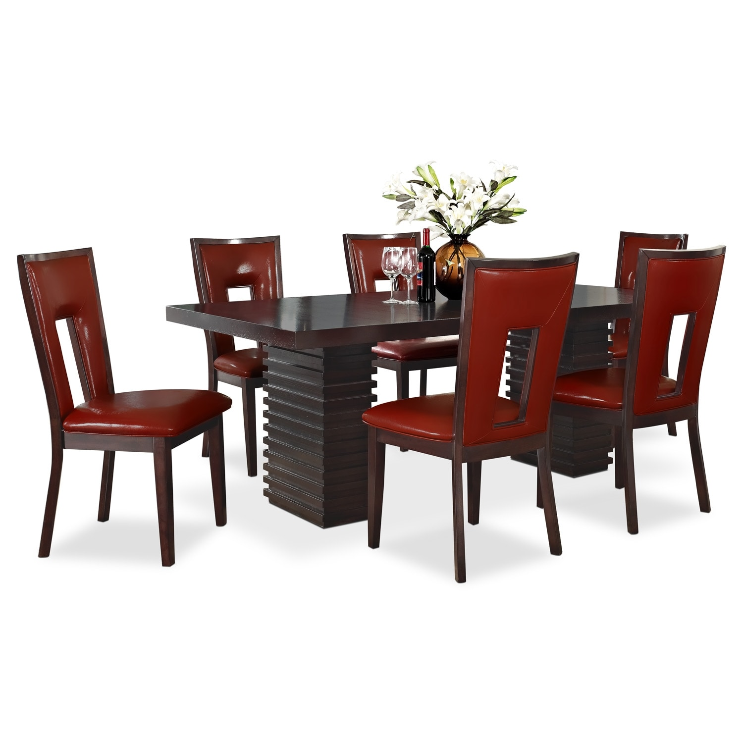 value city dining table and chairs adirondack resin lowes room dinette tables furniture