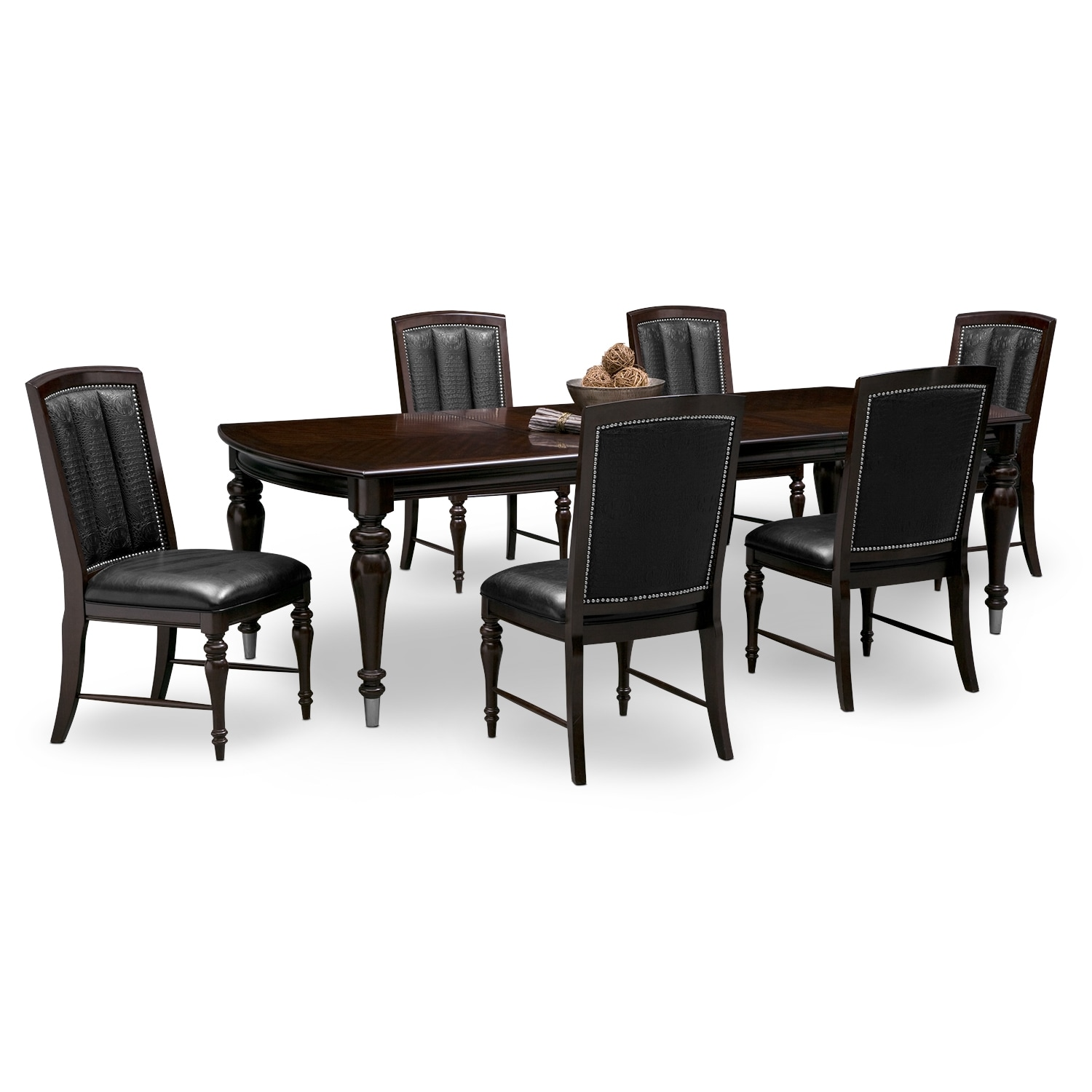 value city dining table and chairs glider chair ikea shop 7 piece room sets furniture