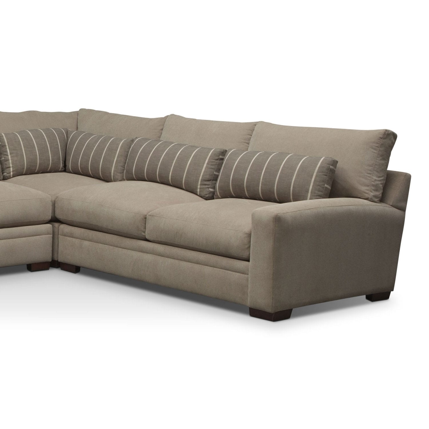 where to donate sectional sofa ebay loose covers ventura 4 piece left facing buff value city