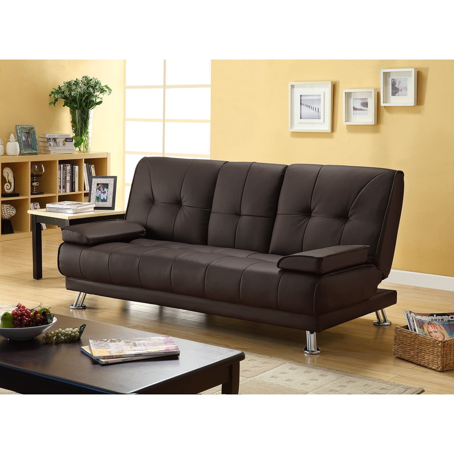 julia cupholder convertible futon sofa bed white to go canberra black leather with cup holders
