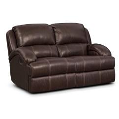 Nolan Power Reclining Sofa White Leather Circular Living Room Furniture Value City