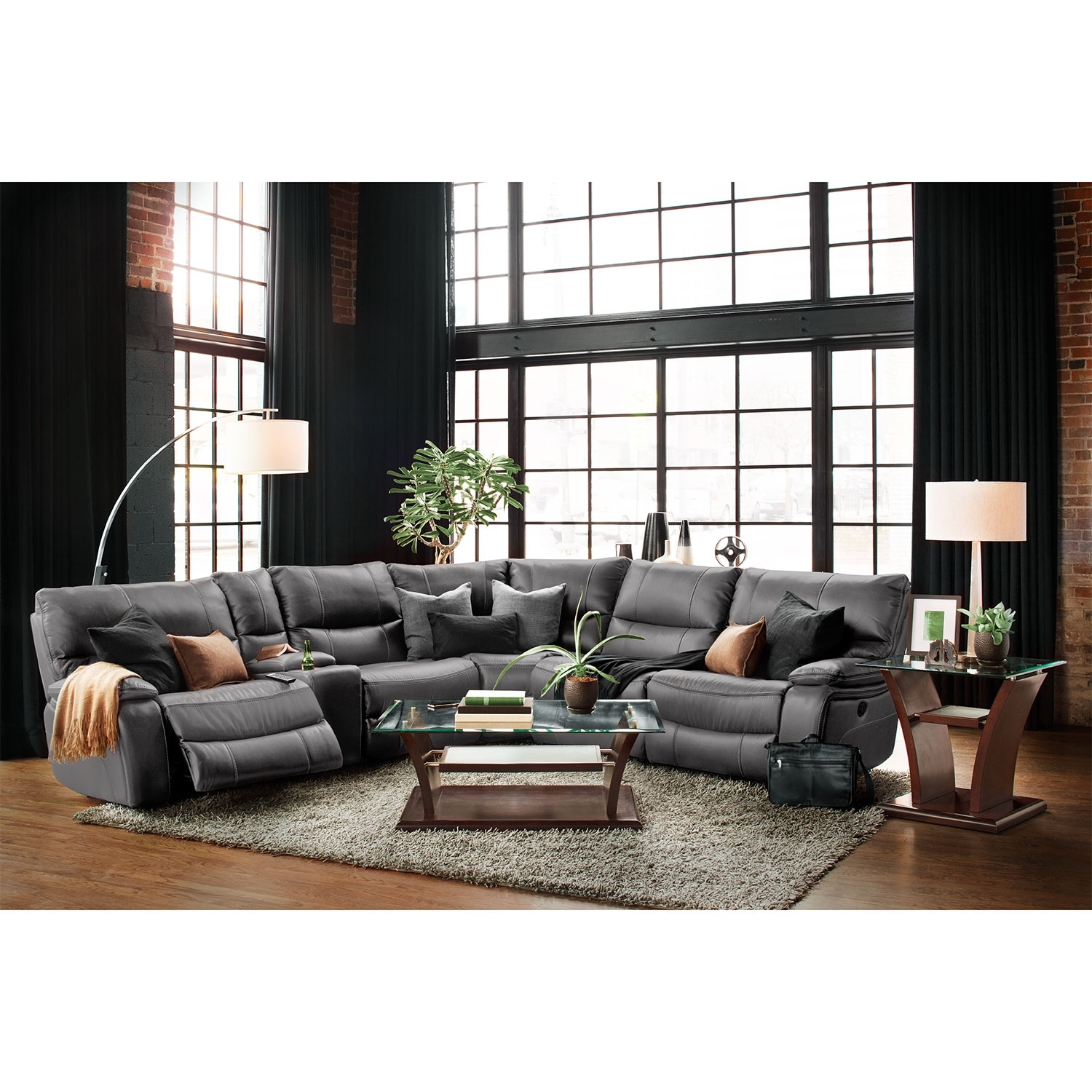 Orlando 6Piece Power Reclining Sectional with 1
