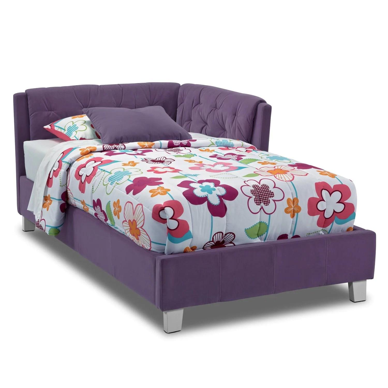 purple corner sofa bed design your own jordan twin value city furniture