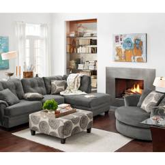 Marco Gray Chaise Sofa Dfs Fabric Sofas Uk The Cordelle Sectional Collection | Value City Furniture ...