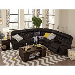 Walnut Furniture Living Room Decorating Ideas Black Leather Couch Diablo 7 Piece Power Reclining Sectional With Armless Chair Click To Change Image