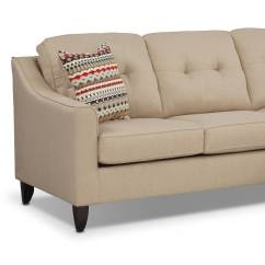 Value City Furniture Marco Chaise Sofa Double Lounge Sectional Cream Leather Corner Tehranmix