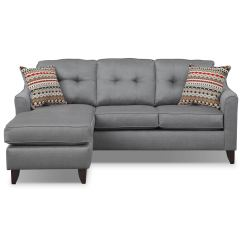 Value City Furniture Marco Chaise Sofa Sectional Sleeper Leather Gray And Mattresses