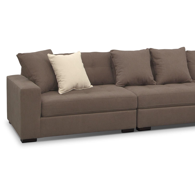 where to donate sectional sofa eaton venti 4 piece mocha value city furniture