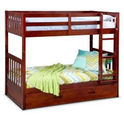 Loft Bed With Chair Futon Mity Lite Cart Ranger Twin Over Bunk Trundle Merlot