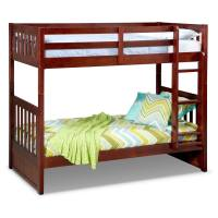 Ranger Twin over Twin Bunk Bed - Merlot | Value City Furniture