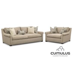 Loveseat And Chair A Half Wicker Peacock For Sale Roberston Cumulus Sofa Set Beige
