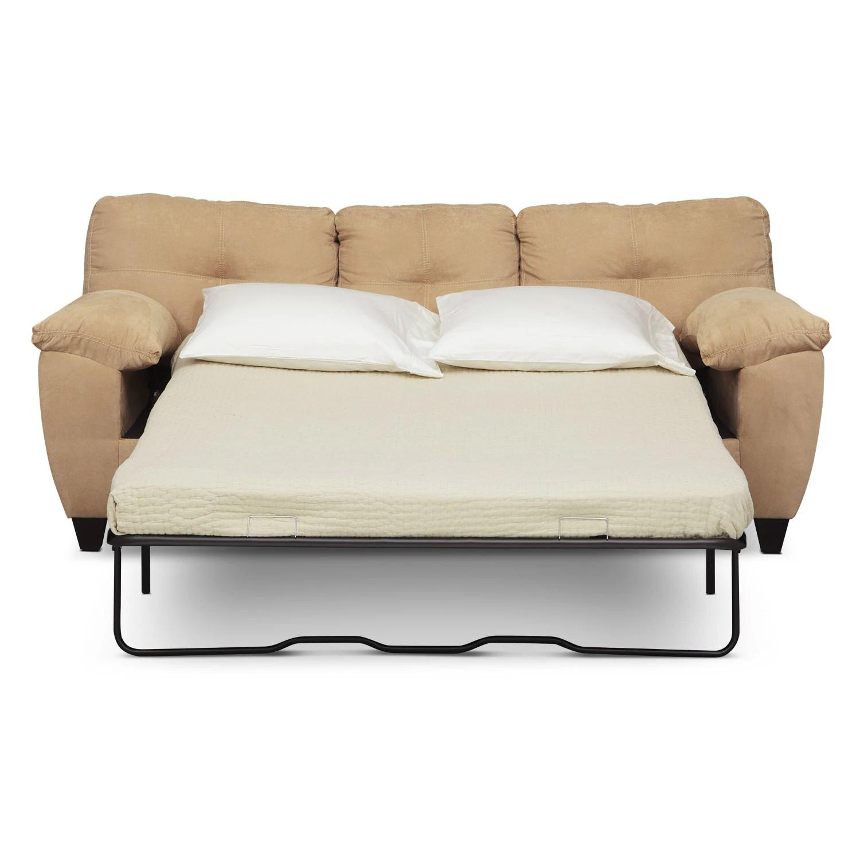 rialto sofa bed ikea leather cover ricardo queen memory foam sleeper camel value