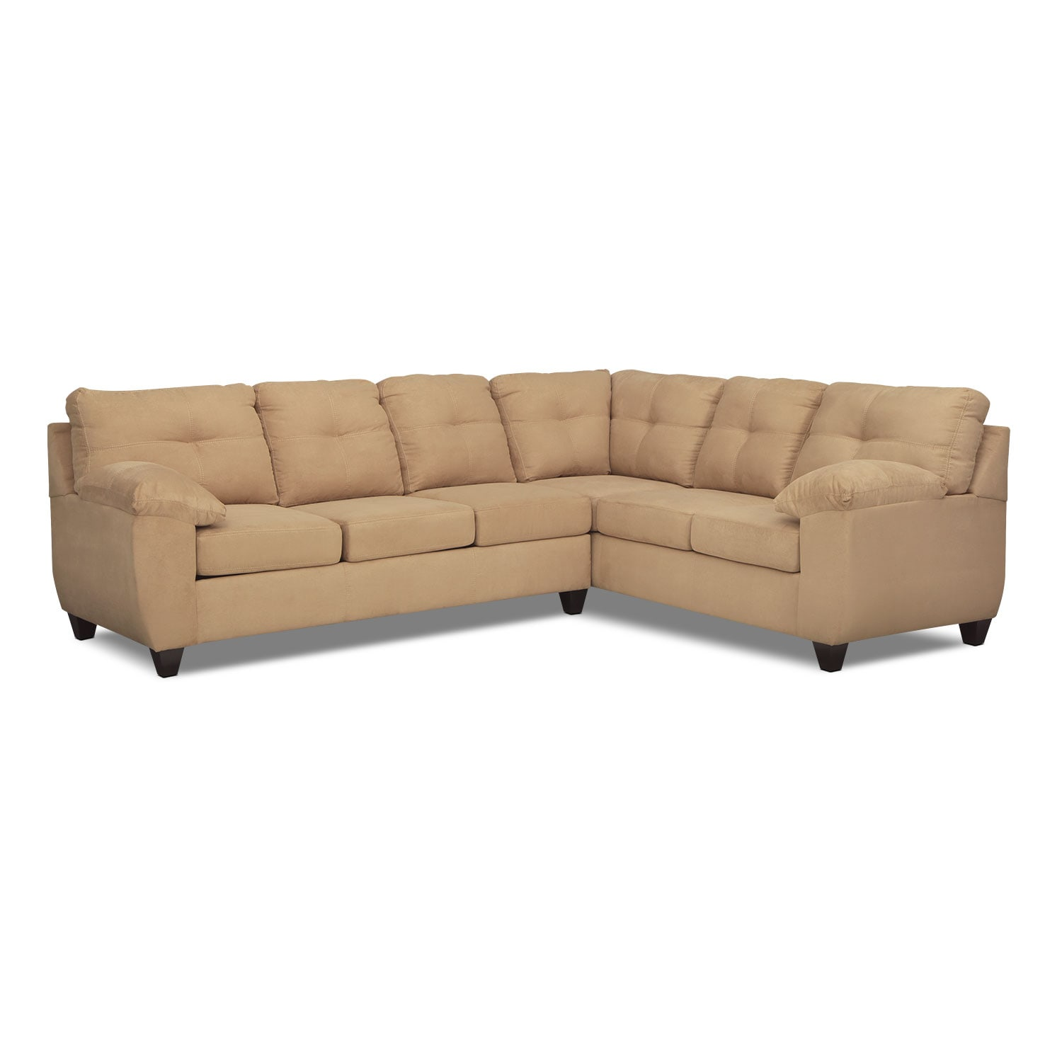 back of sofa facing fireplace diwan set price in stan ricardo 2 piece sectional with right camel