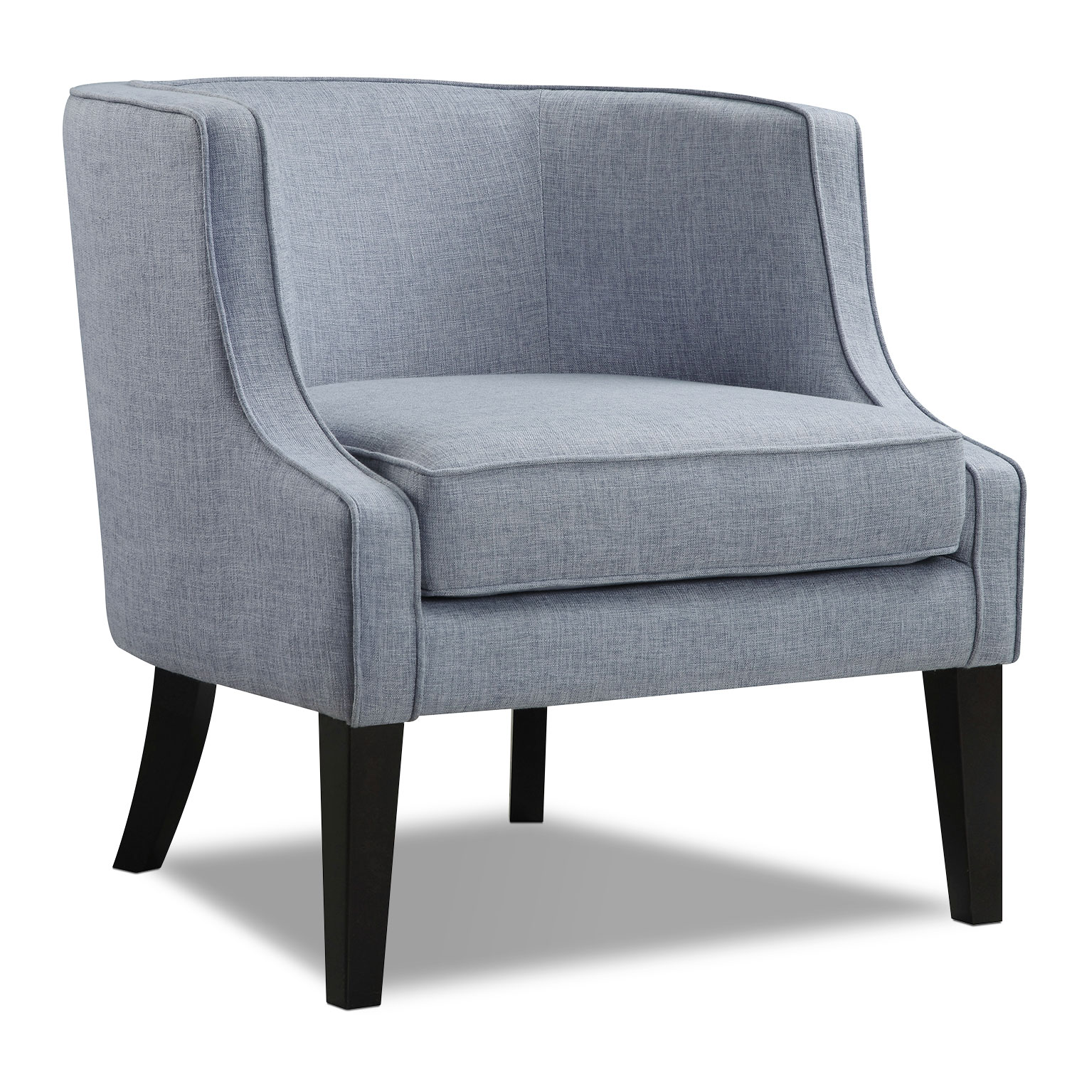 accent chair blue bedroom chairs and table bradley value city furniture mattresses