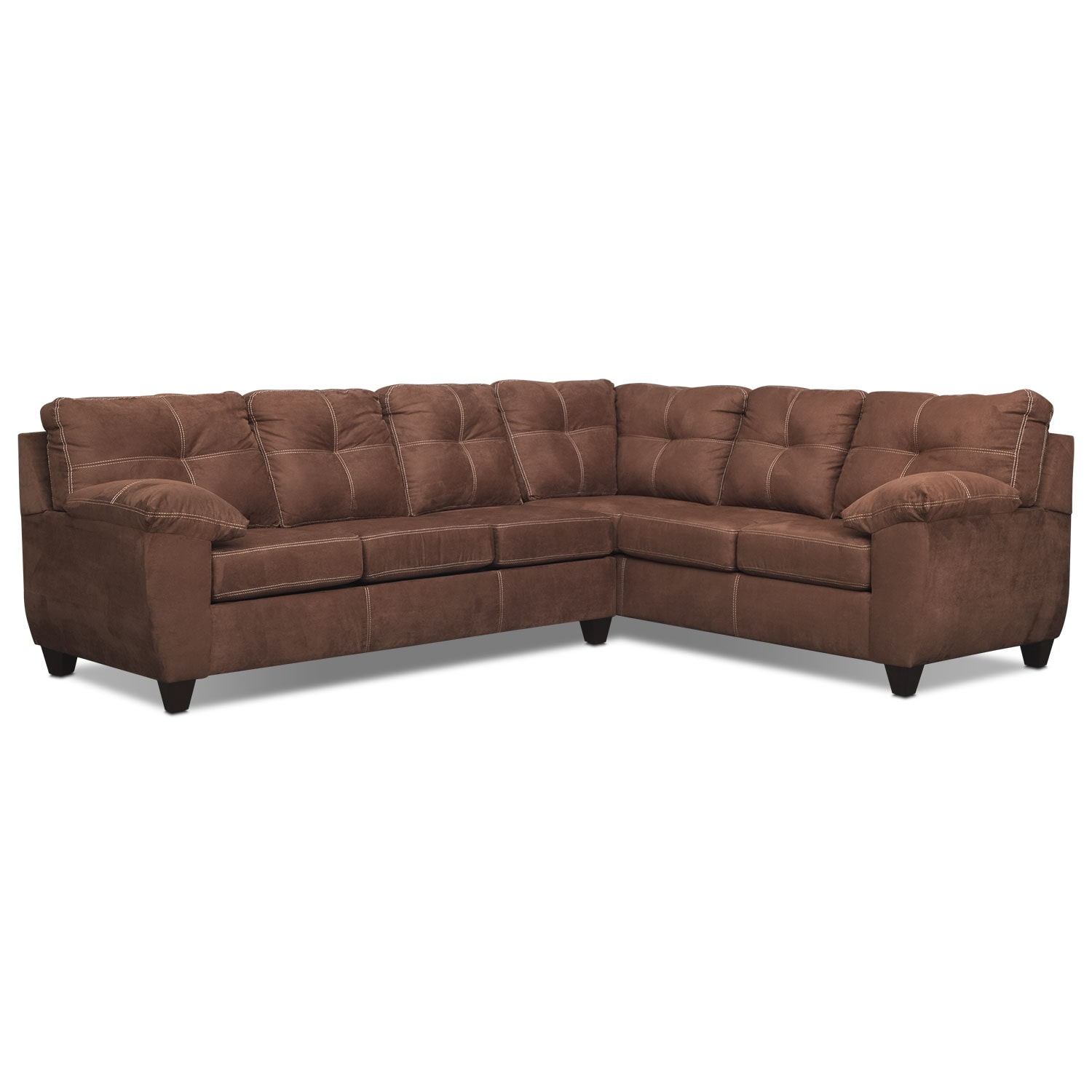 where to donate sectional sofa custom manufacturers los angeles ricardo 2 piece memory foam sleeper with right