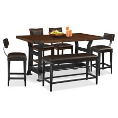 Value City Dining Table And Chairs Aluminum Chair Newcastle Counter Height 2 Stools