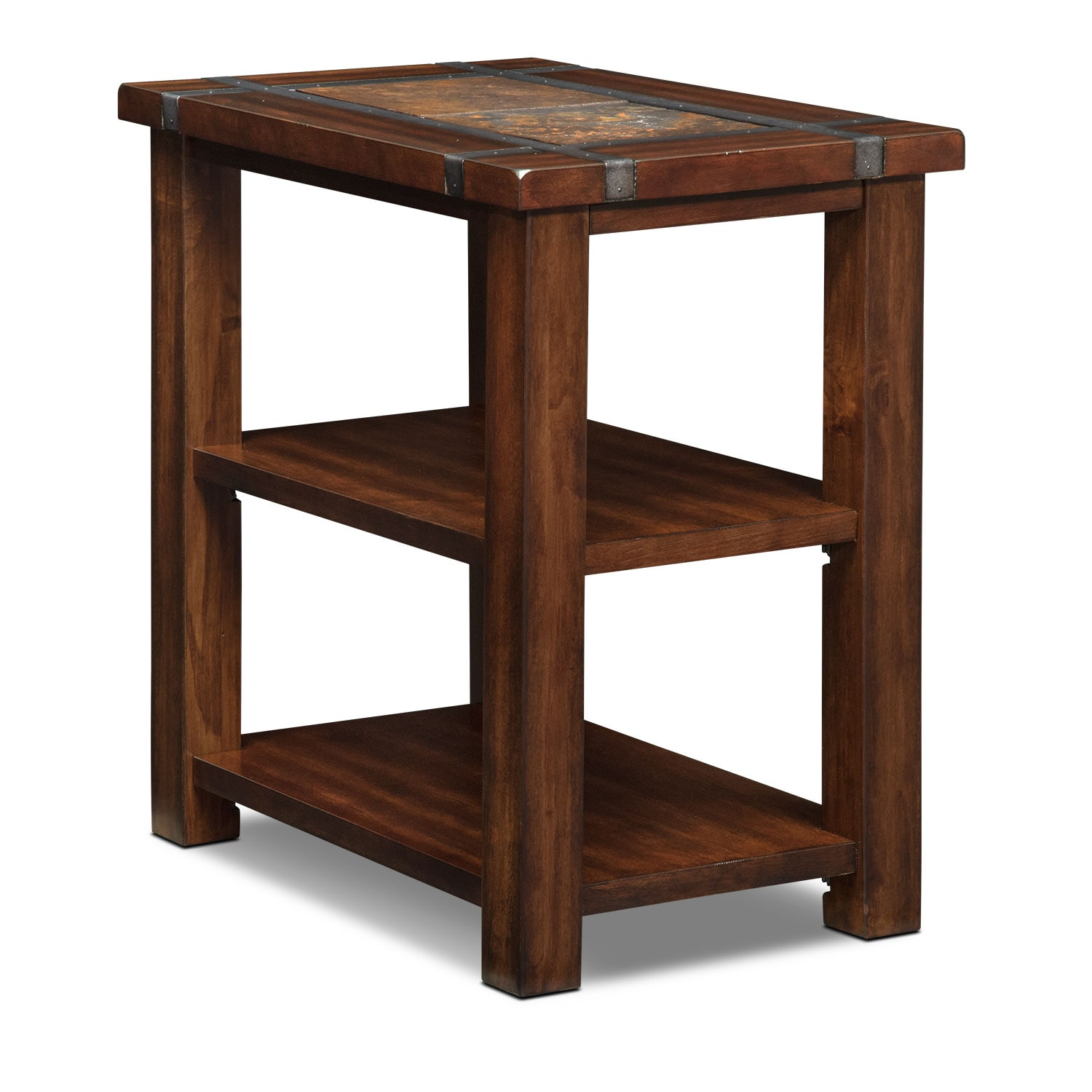 Chair Side Table Slate Ridge Chairside Table Cherry Value City Furniture