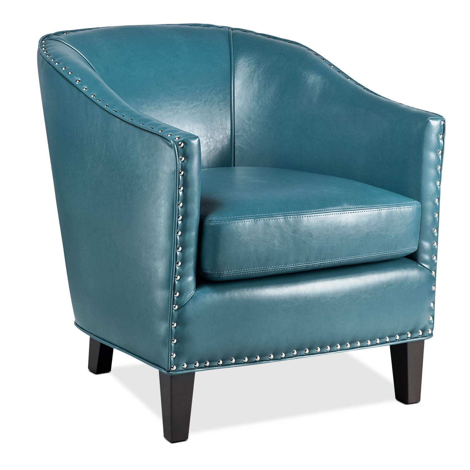Accent Chair Blue Ada Accent Chair Blue Value City Furniture And Mattresses
