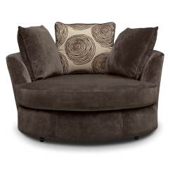Sofas On Credit With No Checks Sofa Colour Combinations 2018 Cordelle Swivel Chair Chocolate Value City Furniture