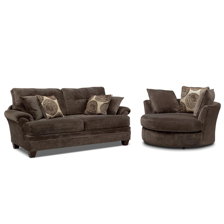 swivel chair sofa set massage zero gravity cordelle and value city furniture mattresses